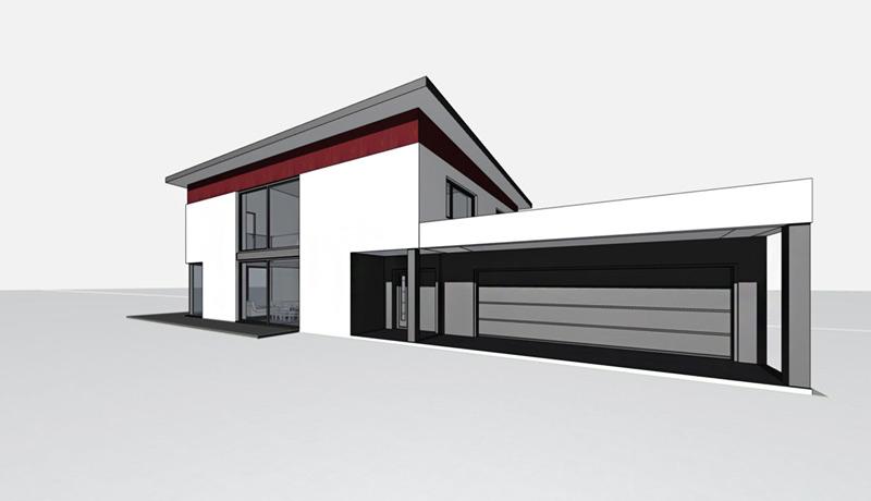 Einfamilienhaus neubau mit doppelgarage  Atelier a11 - Constanze Frank